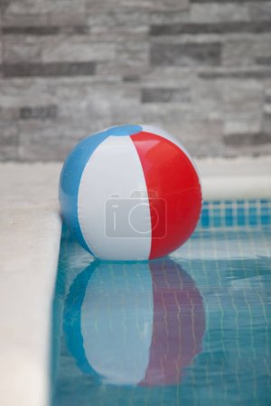 inflatable ball in pool