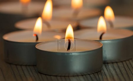 small burning candles