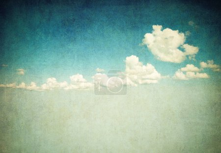 Photo for Retro image of beautiful cloudy sky - Royalty Free Image