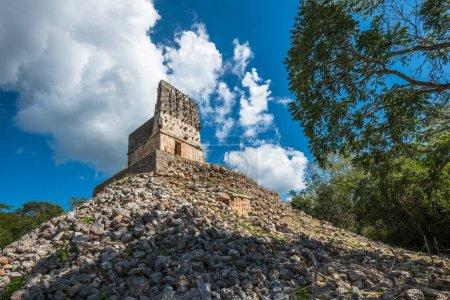El Mirador mayan pyramid, Labna ruins, Yucatan, Me...