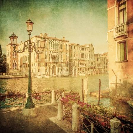 Photo for Vintage image of Grand Canal, Venice - Royalty Free Image