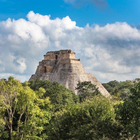 Pyramid of the Magician in Uxmal, Yucatan, Mexico...
