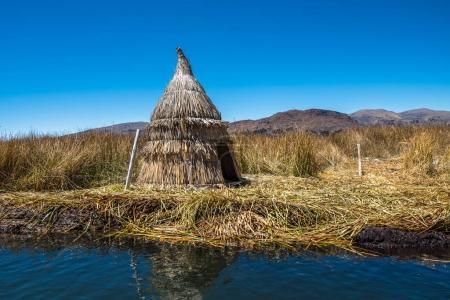 Totora reed hut Lake Titicaca
