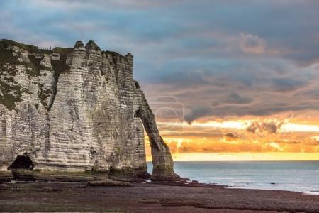 White cliffs of Etretat , Normandy
