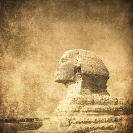 image of sphynx and pyramid