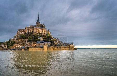 Mont-Saint-Michel, island with the famous abbey, Normandy, France