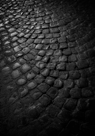 Photo for Cobblestone pavement, textured city background - Royalty Free Image
