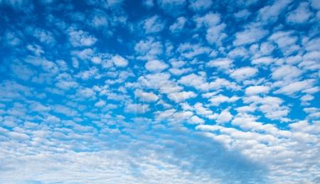 blue cloudy sky panorama, nature background