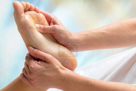 Healing reflexology massage.