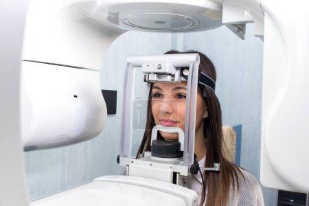 Woman having digital panoramic x-ray