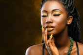 African woman with make up