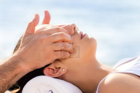 woman at osteopathic treatment session