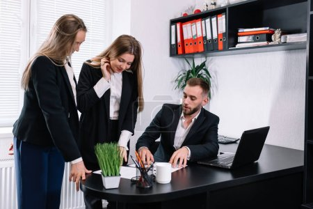 Photo for Director's communication with employees at office - Royalty Free Image