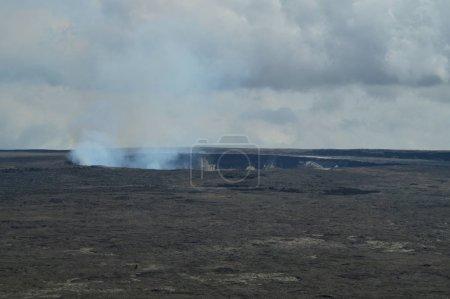 Active Volcano Emitting Smoke.  July 14, 2017.  July 14, 2017. Big Island, Hawai, USA. EEUU.