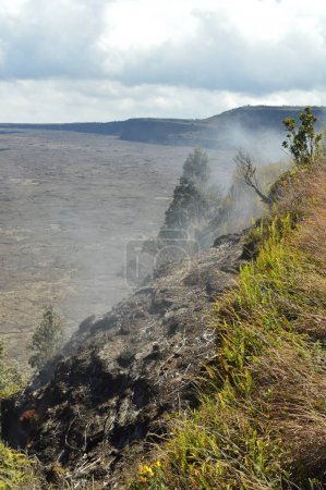 Active Volcano Emitting Smoke.  July 14, 2017. Big Island, Hawai, USA. EEUU.