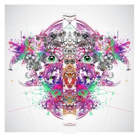 Photo pour Yeux magiques colorés, fond abstrait - image libre de droit