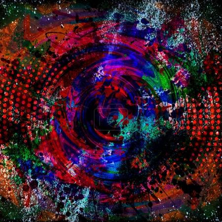 abstract colorfull splashes