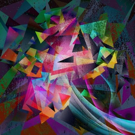 Photo for Abstract magic colorful geometric background - Royalty Free Image