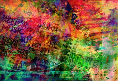 Photo for Abstract creative wallpaper with different colors - Royalty Free Image