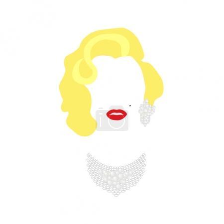 Мэрилин Монро векторный портрет