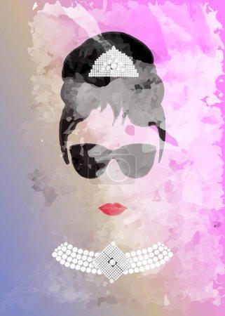 Одри Хепберн в черных очках