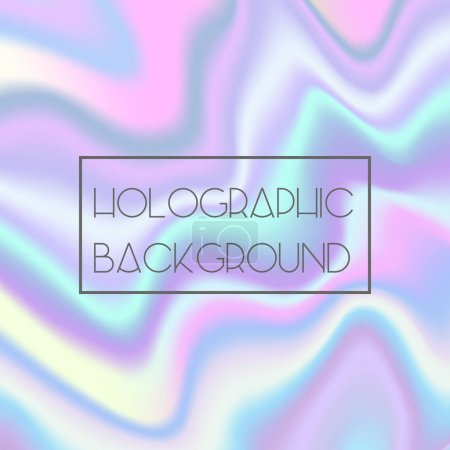 Illustration for Abstract bright holographic wavy texture background for trendy design - Royalty Free Image