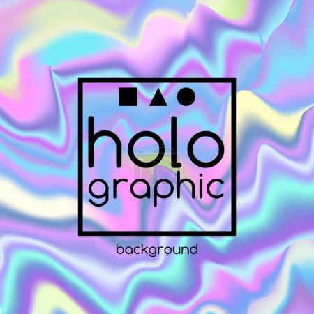 Illustration pour Résumé lumineux fond de texture ondulée holographique pour la conception à la mode - image libre de droit