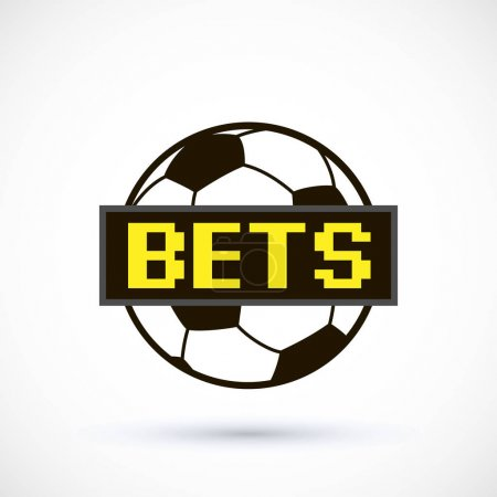 Sport logo, betting soccer ball