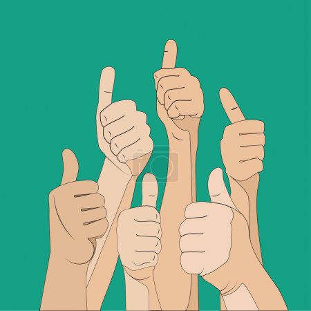 hands with thumbs up