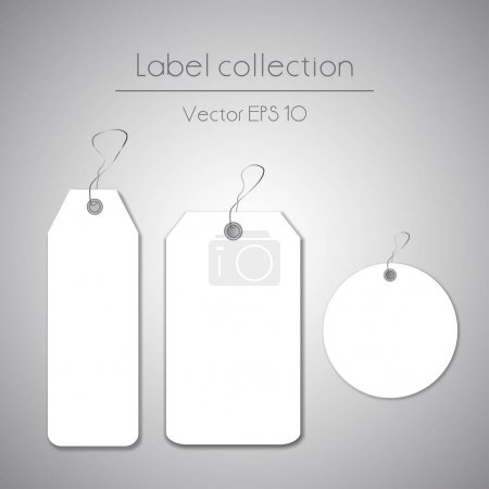white hanging labels
