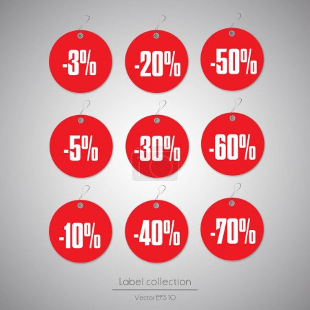 round red sale hanging labels