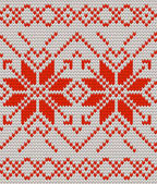 White and Red Holiday seamless pattern with cross stitch embroidered happy new year ornament Christmas template endless design for package web sites textile And also includes EPS 10 vector