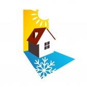 House sun and snowflake design