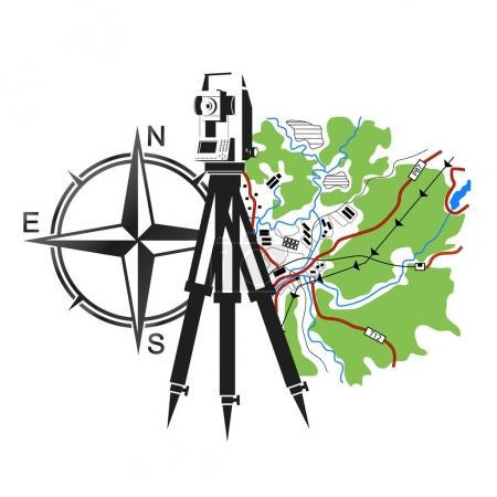 Symbol for geodesy and cartography