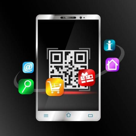 Smartphone scans barcode for purchase