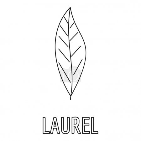 Laurel leaf icon, outline style.