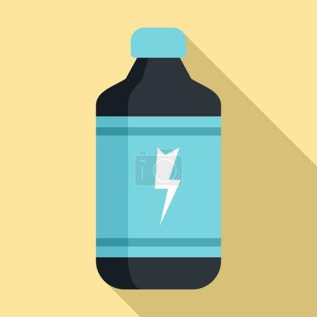 Photo pour Icône des boissons énergisantes froides. Illustration plane de l'icône vectorielle des boissons énergisantes froides pour la conception Web - image libre de droit