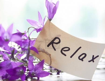 Wildflowers and Relax tag
