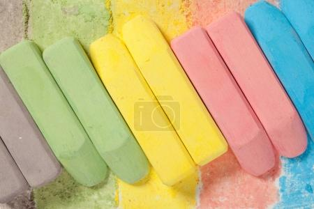 Bright multicolored chalks