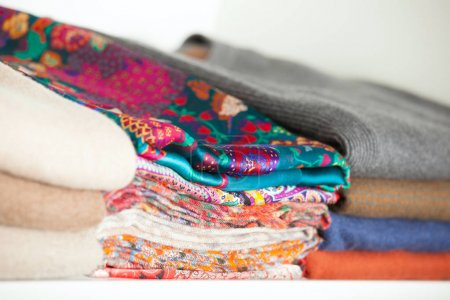 Fragment of woolen and cotton clothes