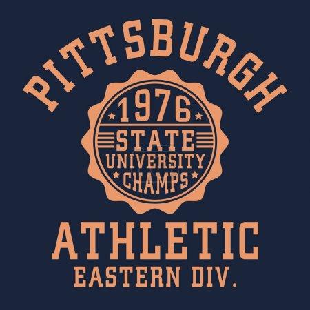Athletic sport typography