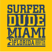 Miami surf typography