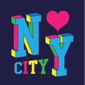 New York city love typography