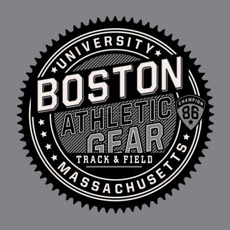 Athletic sport Boston typography
