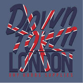 London Flag typography t-shirt graphic