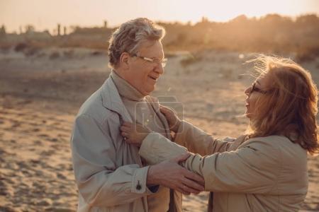 senior couple on beach