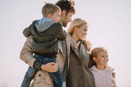 parents with son and daughter