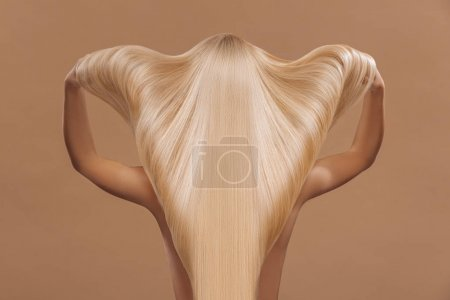 long beautiful blond hair