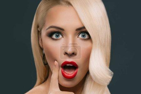 shocked glamorous woman