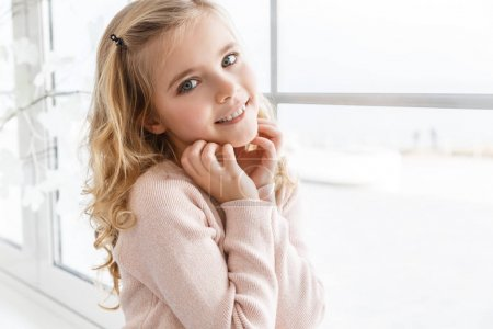 Photo for Close-up portrait of adorable little child looking at camera - Royalty Free Image